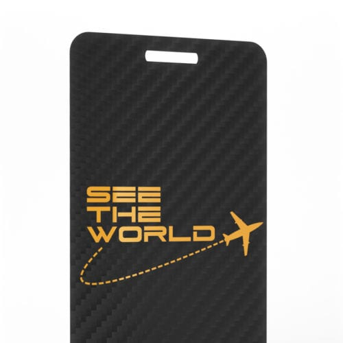 Pure Metal Cards carbon fiber luggage tag card