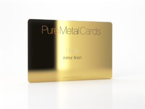 Pure Metal Cards mirror gold brass business card