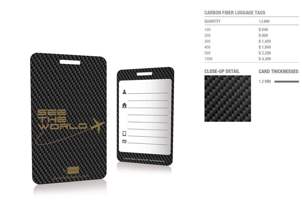Carbon Fiber Luggage Tags