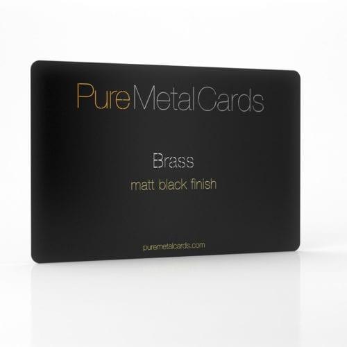 Pure Metal Cards matt black brass card