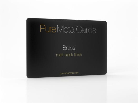 Pure Metal Cards matt black brass card
