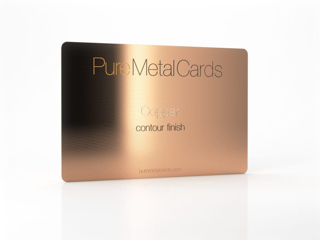 The Copper Metal Card | PURE METAL CARDS
