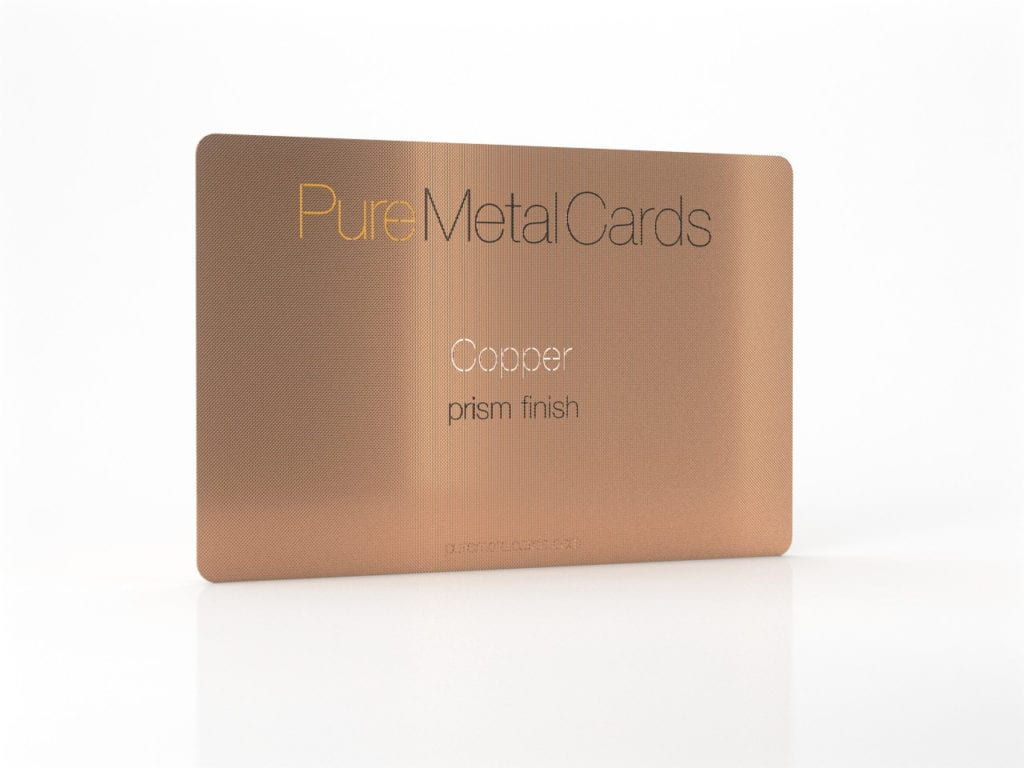 Pure Metal Cards prism copper business card