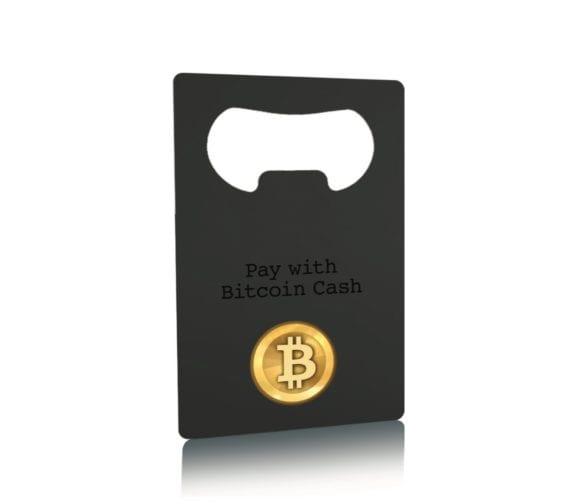 Pure Metal Cards matt black stainless steel bottle opener