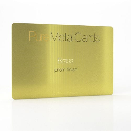 Pure Metal Cards gold prism brass metal card