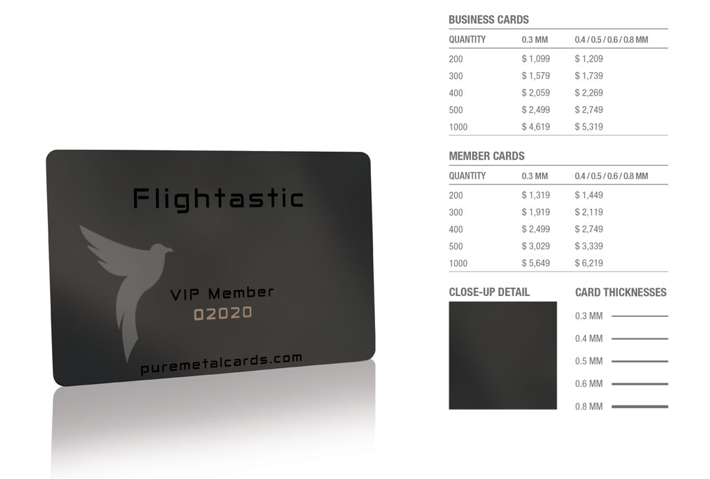 Black Mirror Stainless Steel Cards