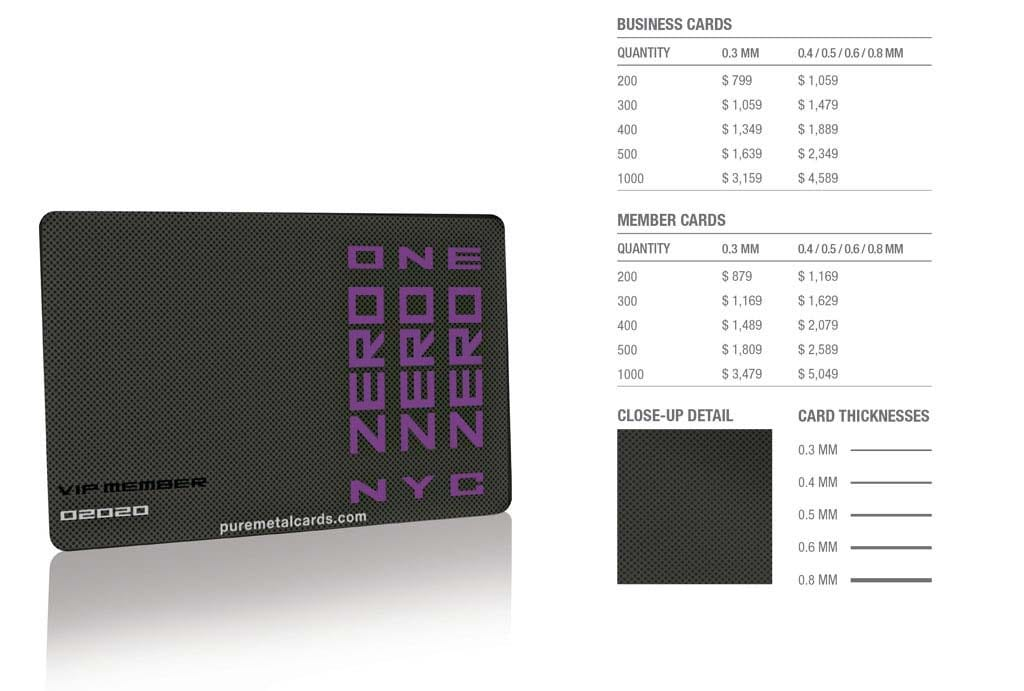 Matt Black Pixel Stainless Steel Cards