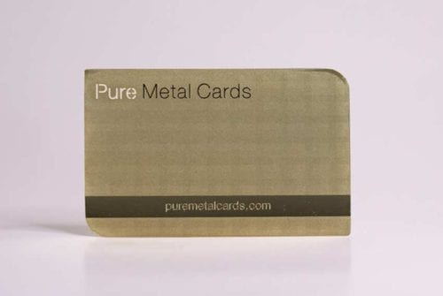 Brass (Gold) Prism Cards