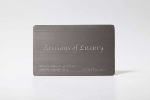 Brushed Titanium Cards