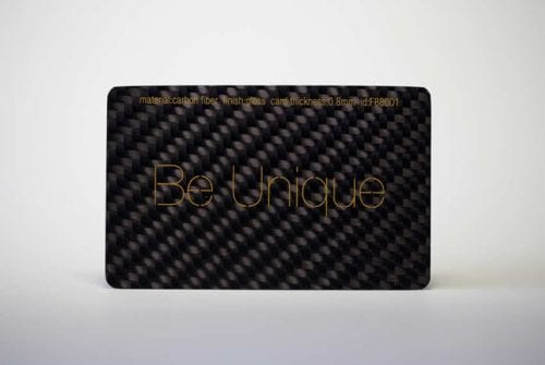 Carbon Fiber (Gloss Finish) Cards