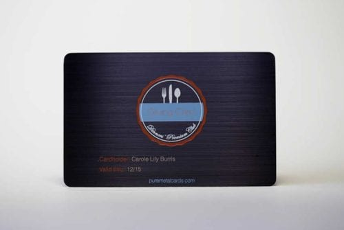 Matt Black Brushed Stainless Steel Cards