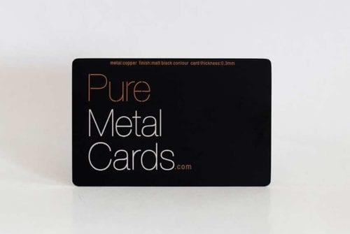 Matt Black Contour Copper Cards