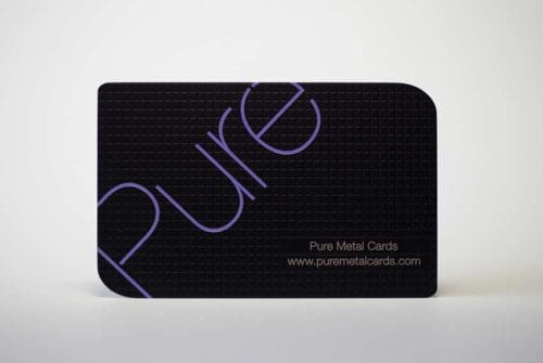 Matt Black Stainless Steel Cards