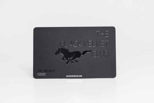 Matt Black Velvet Stainless Steel Cards