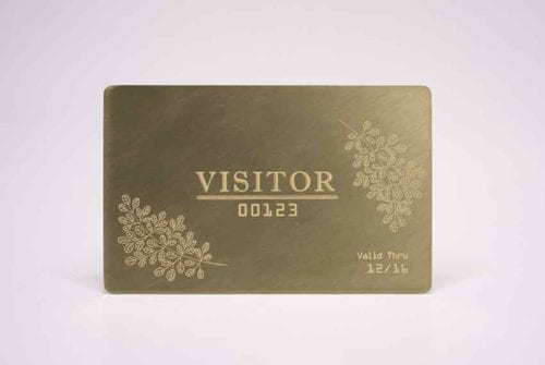 Standard Brass (Gold) Cards