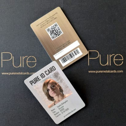 Pure Metal Cards metal identity card