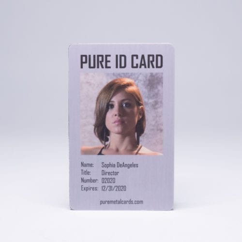 Pure Metal Cards brushed steel metal Pure ID Card