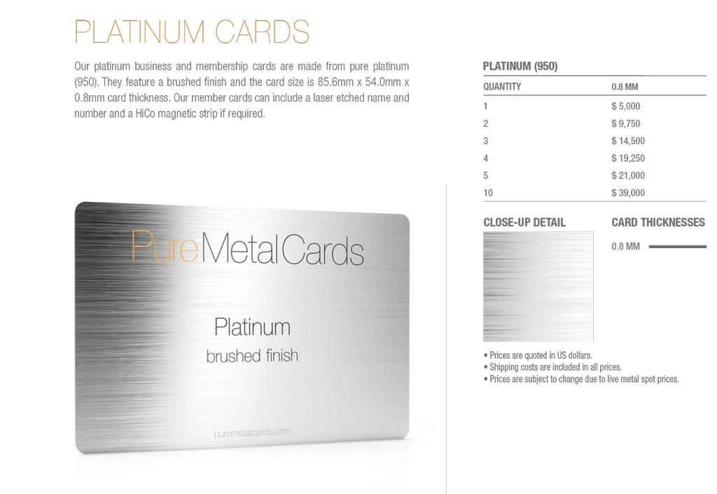 Platinum Cards