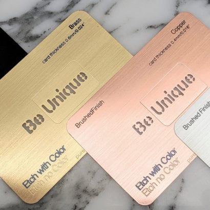 Pure Metal Cards sampler cards