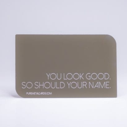 Pure Metal Cards - mirror business card