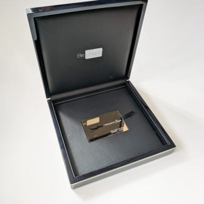 Pure Metal Cards luxury wood card presentation case