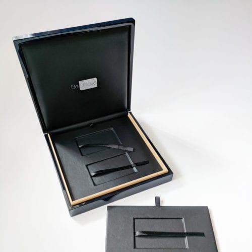 Pure Metal Cards luxury wood card presentation case