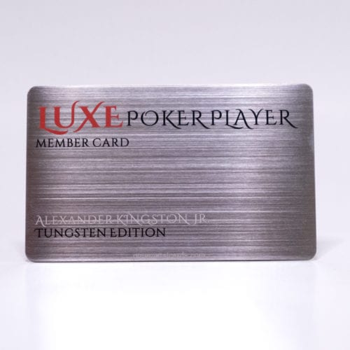 Pure Metal Cards brushed tungsten member card