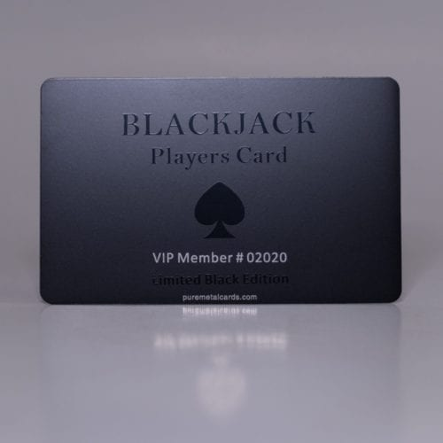 Pure Metal Cards matt black tungsten member card