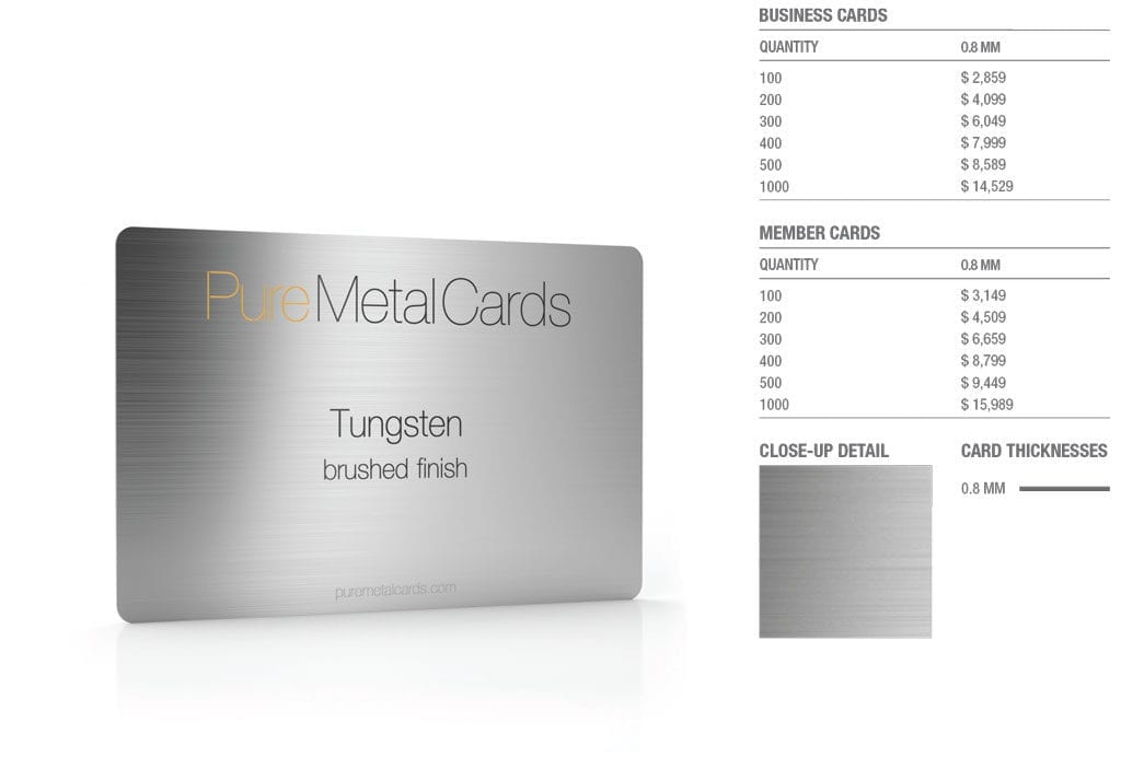 Brushed Tungsten Cards