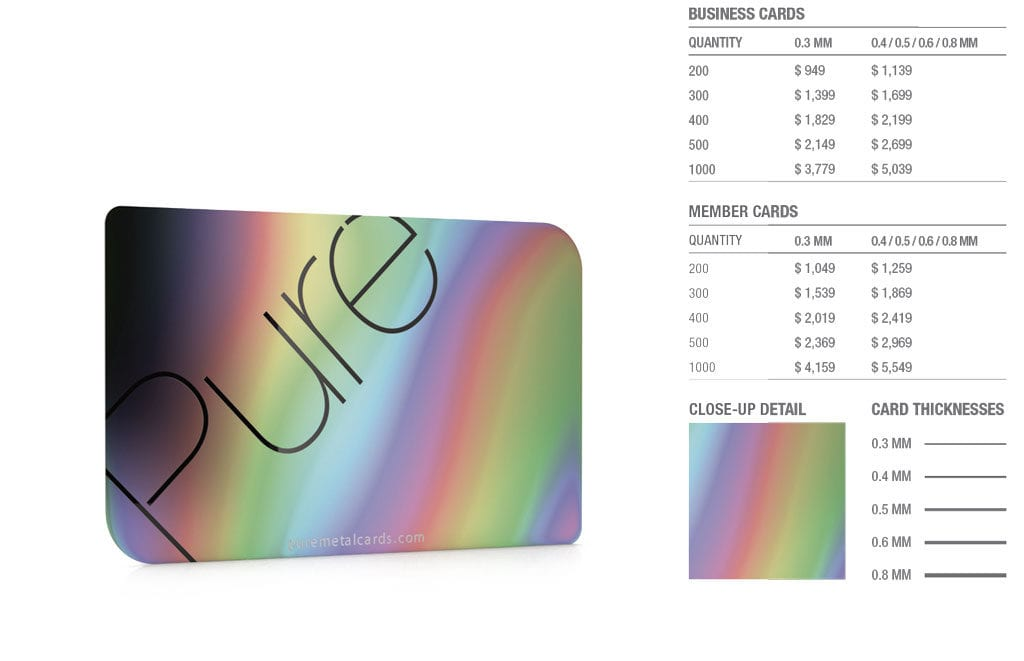 Iridescent Steel Cards