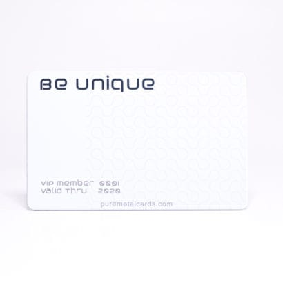 Pure Metal Cards - white titanium member card