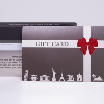 Pure Metal Cards - stainless steel gift card