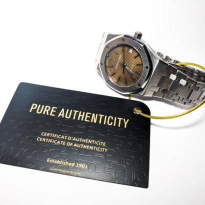 Pure Metal Cards matt black brass authenticity tag card