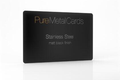 Matt Black Stainless Steel Cards
