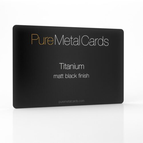 Pure Metal Cards matt black titanium card