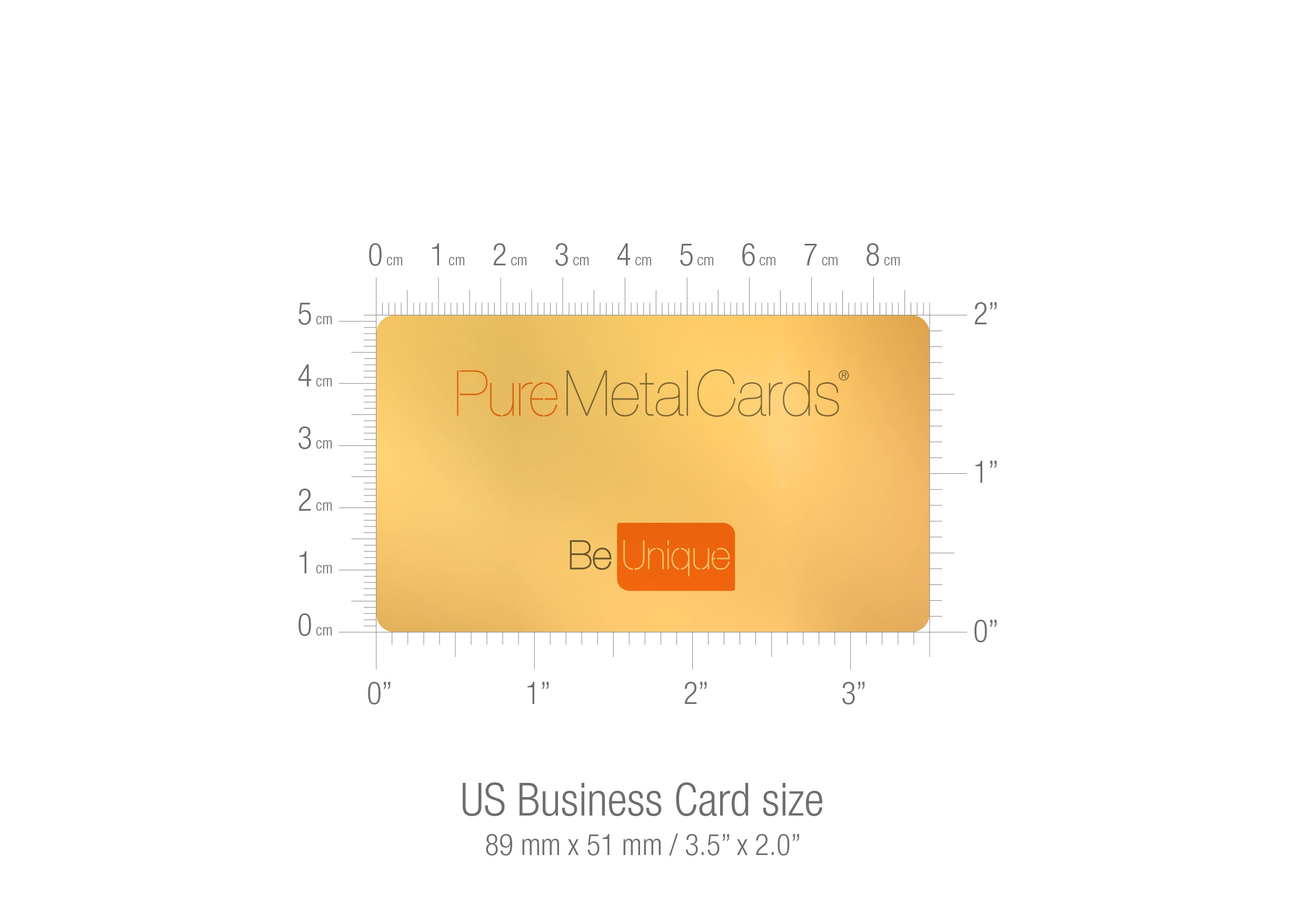 US business card sizing