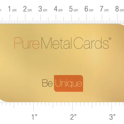 Pure Metal Cards US business card sizing