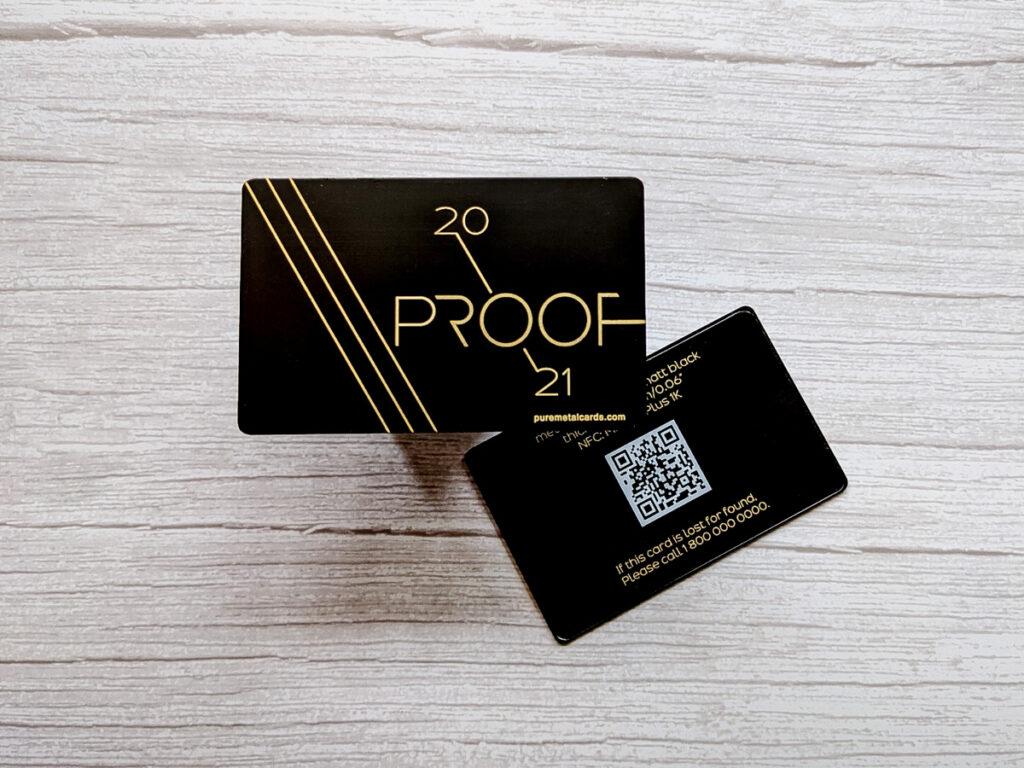 Pure Metal Cards matt black metal NFC / RFID card